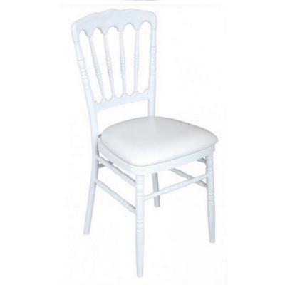 Chaise napoleon blanche galette blanche
