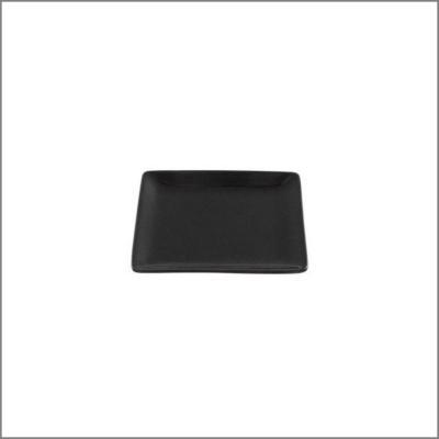 Assiette carrée 12x12 noire