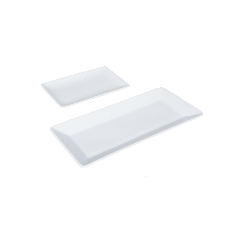 Assiettes rectangles 20x13 et 32x15 fb