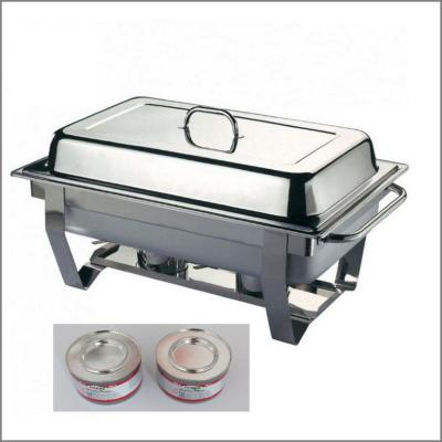 Chafing dish + 2 brûleurs + 2 gels combustibles