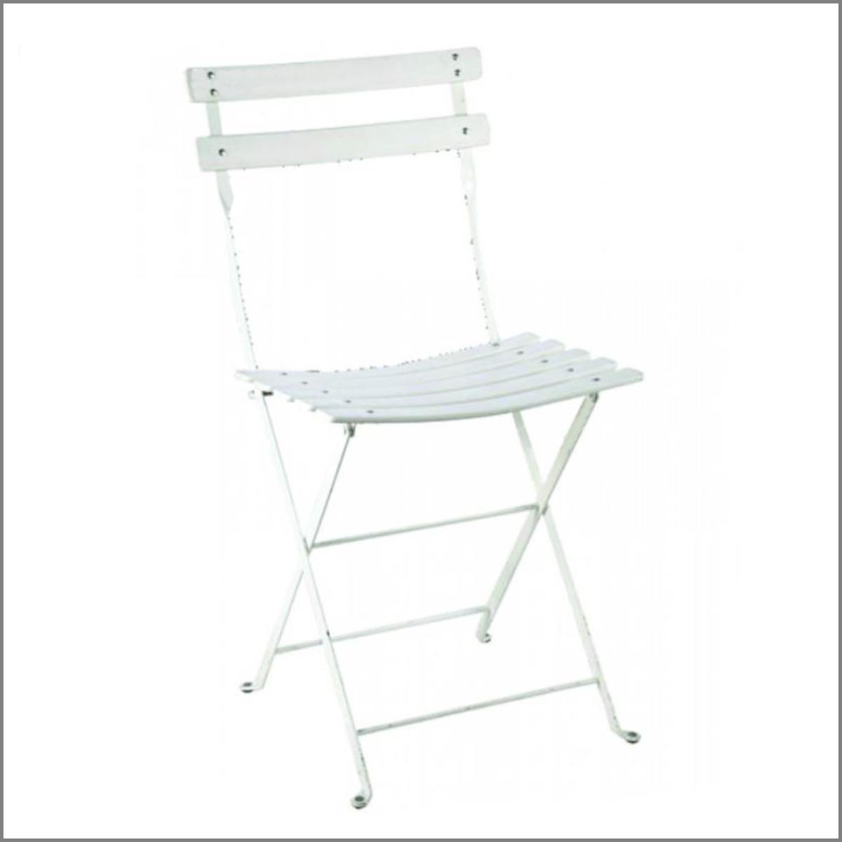 Chaise square blanche 2