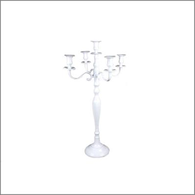 Chandelier blanc 5 branches H50cm