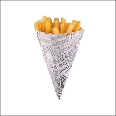 10 cornets carton frites et pop corn