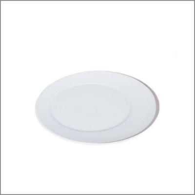 Assiette plate D23 'Elipse argent'