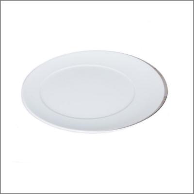 Assiette plate D28 'Elipse argent'