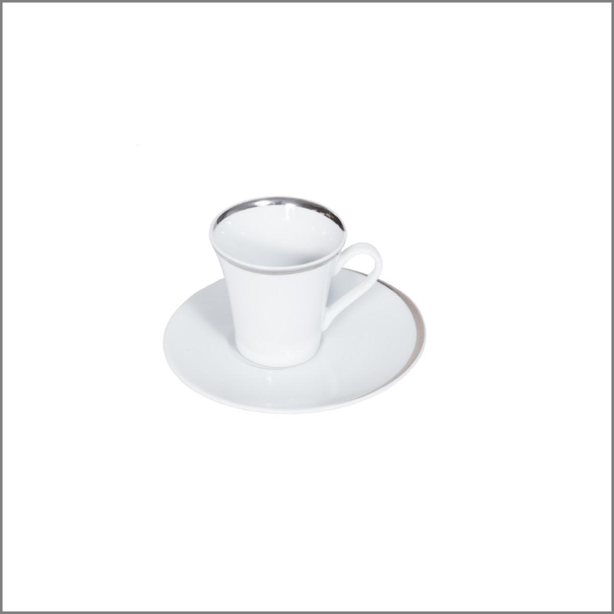 Elipse argent tasse a cafe et sous tasse