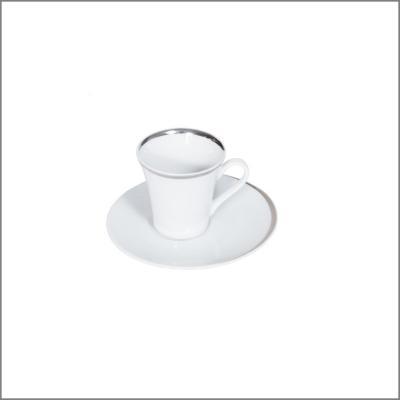 Tasse à café 'Elipse argent'