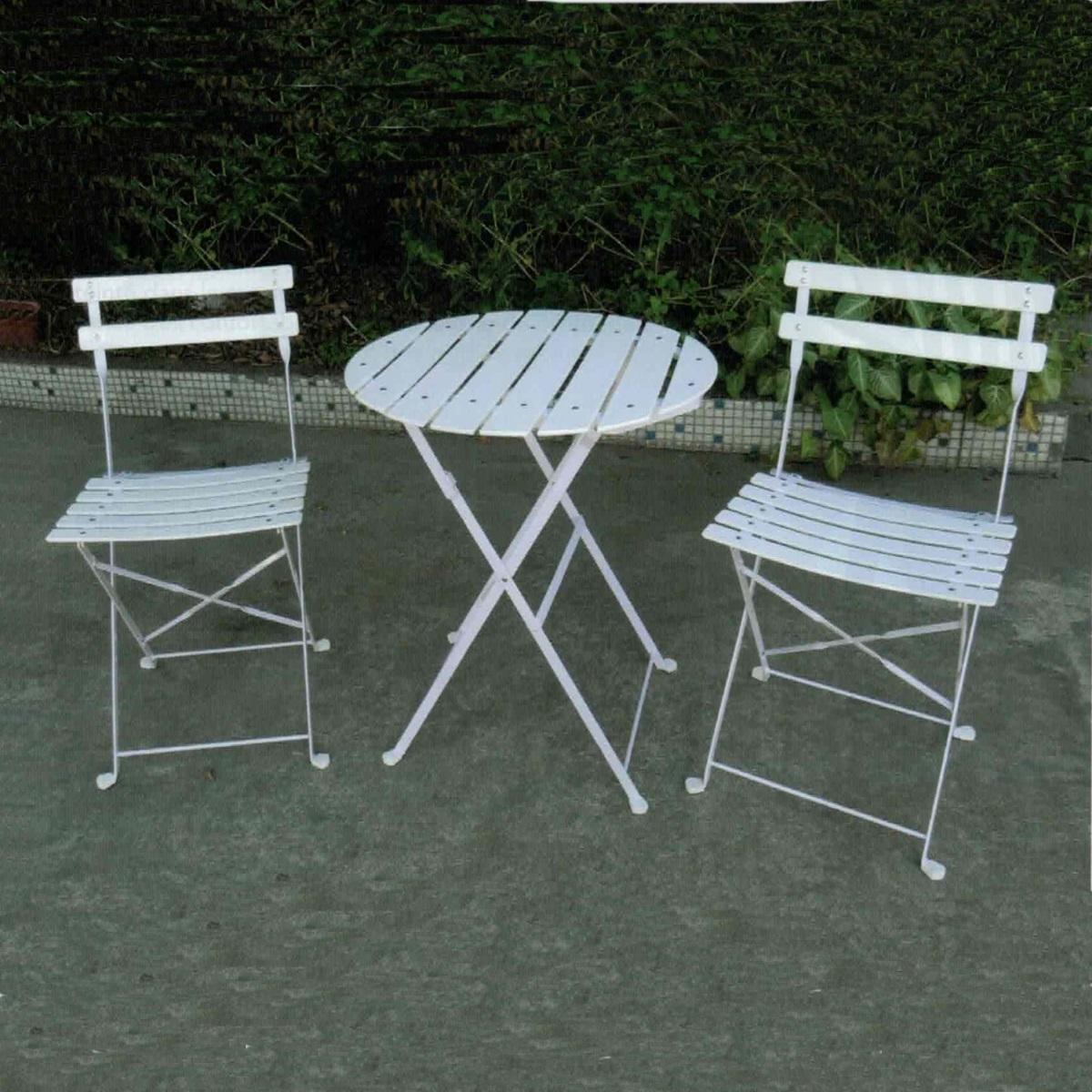 Gueridon et chaises square