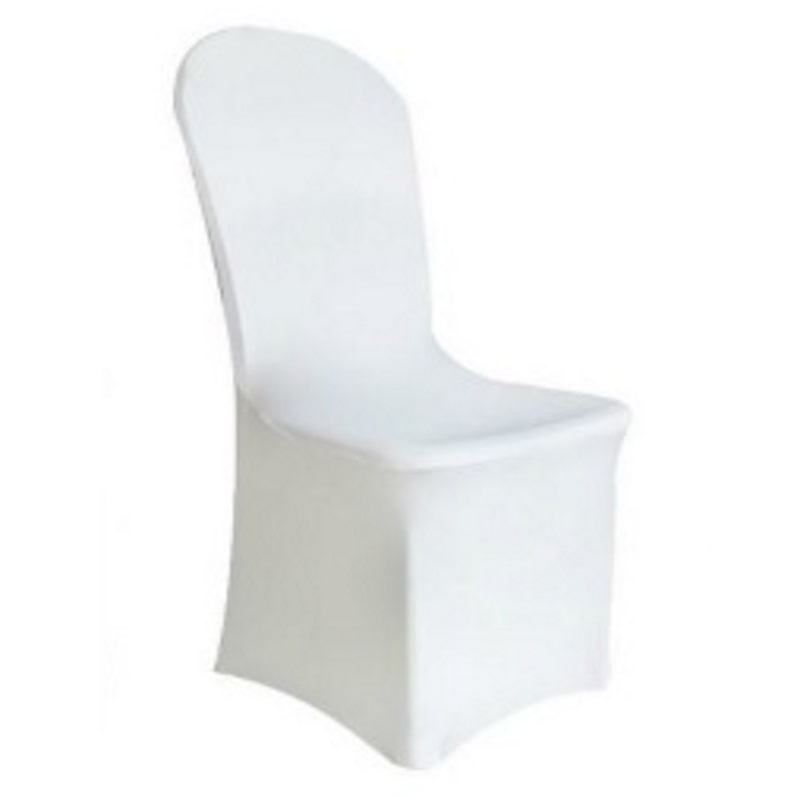 Housse blanche chaise 1