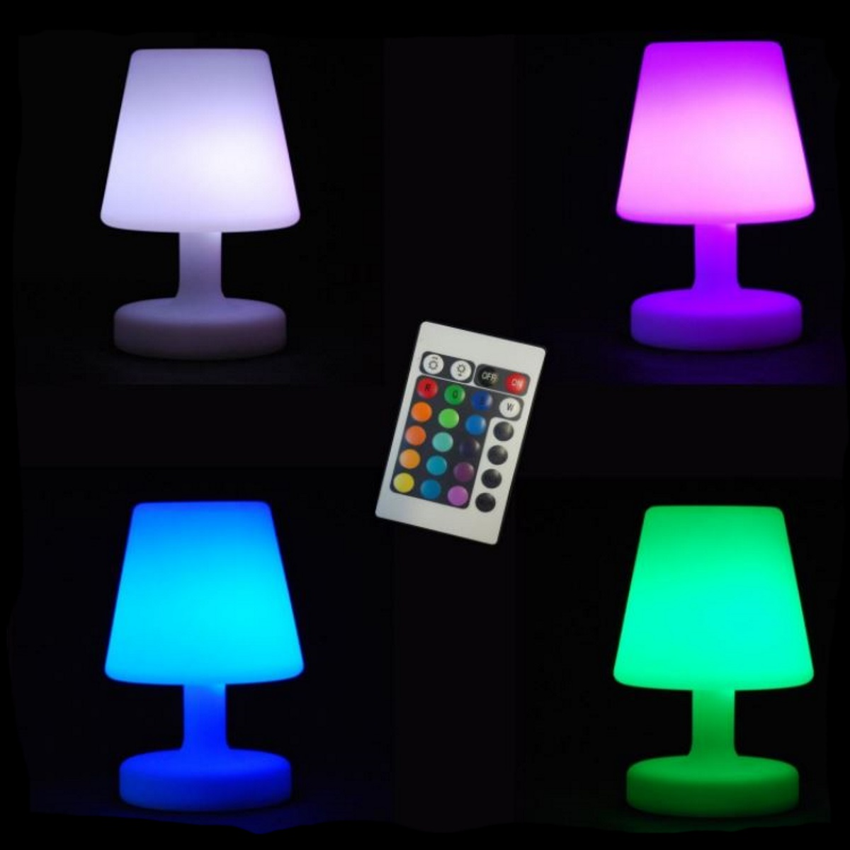 Lampe de table a led et telecommande 16 couleurs 2