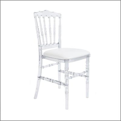 Chaise cristal 'Napoléon III' - Assise blanche