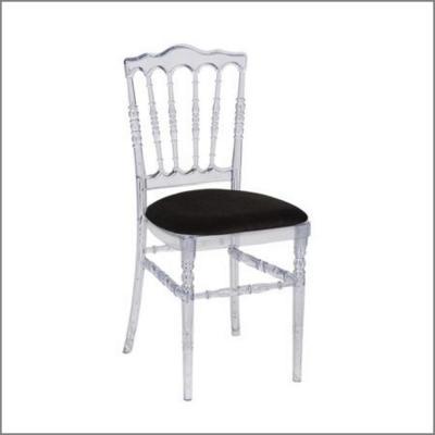 Chaise cristal 'Napoléon III' - Assise Noire