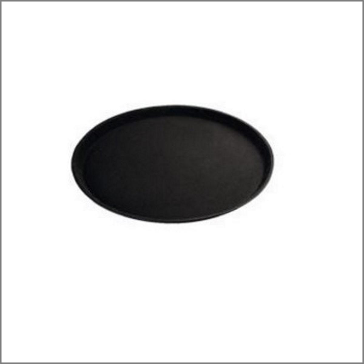 Plateau service rond noir d40 5