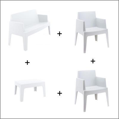 Salon box blanc
