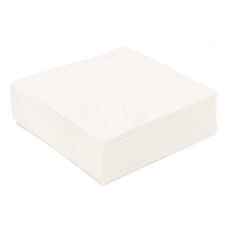 Serviettes blanches 40x40
