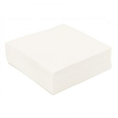 Vente 50 serviettes en intissé 40x40 blanche