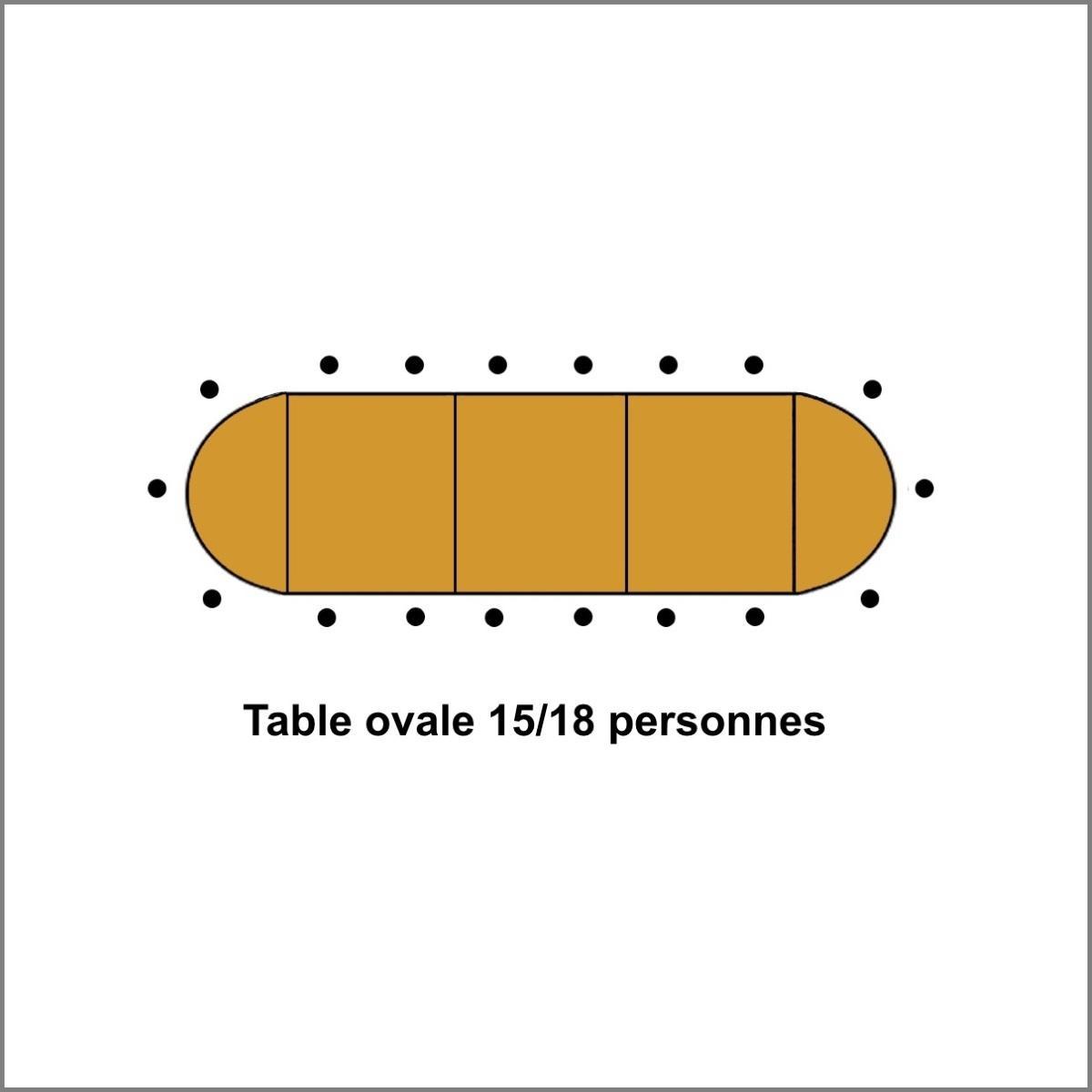 Table ovale 15 a 18 personnes bois 2