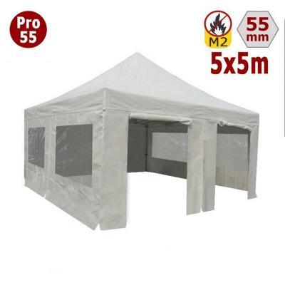 Tente pliante 5x5m + 4 côtés