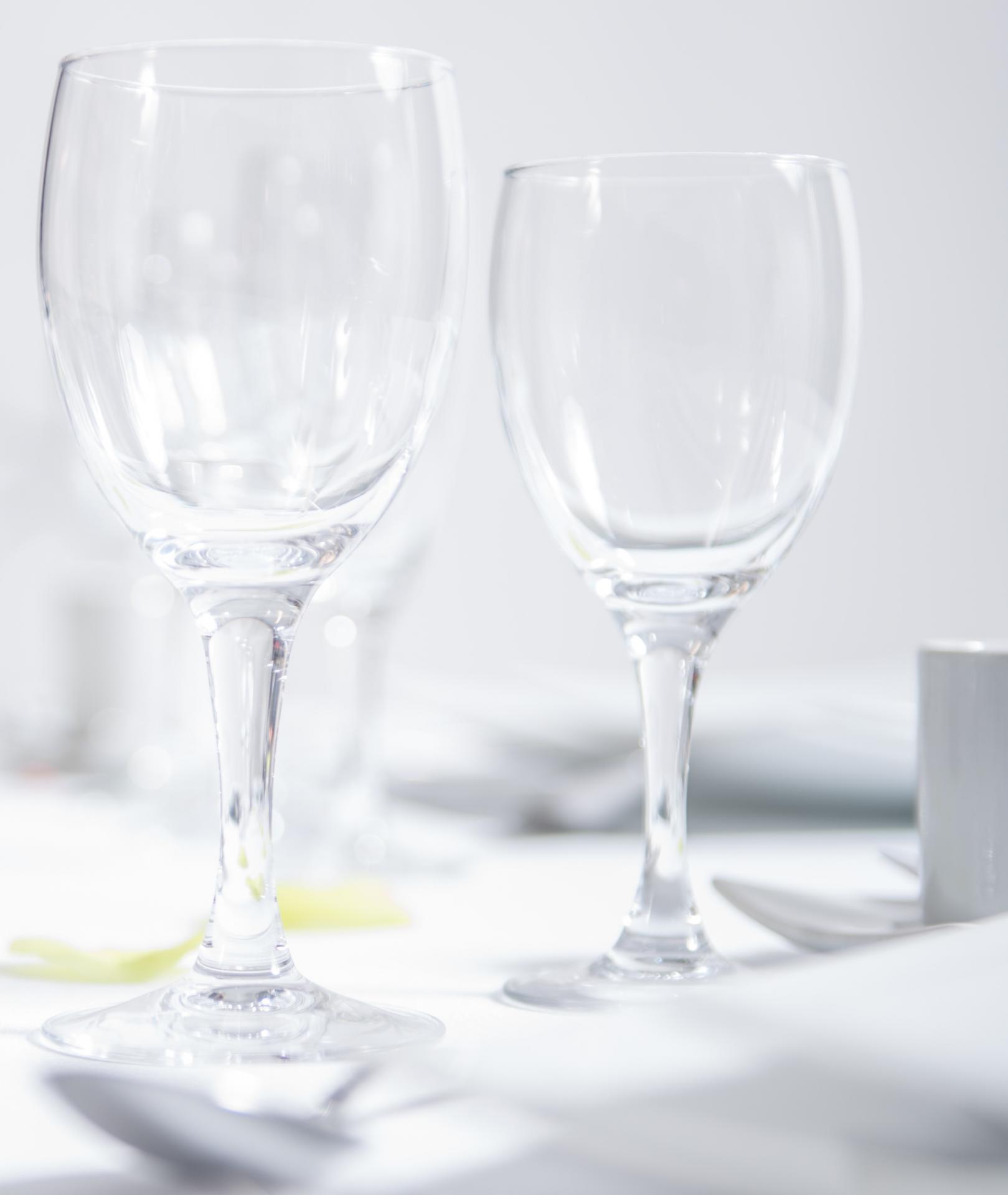 Verres vin et eau elegance